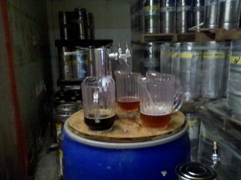 Sampling Lazy Magnolia Beer