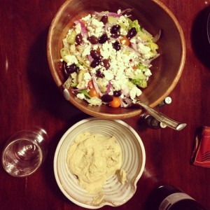 Hummus and Greek Salad