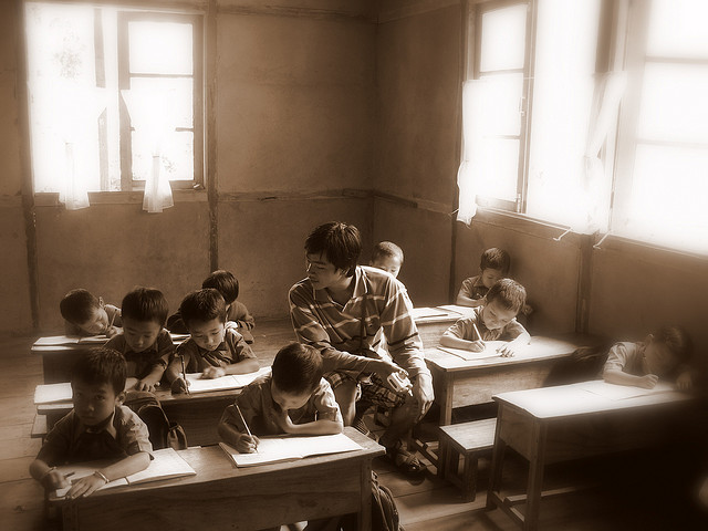 Classroom - image by http://www.flickr.com/photos/dhillan/