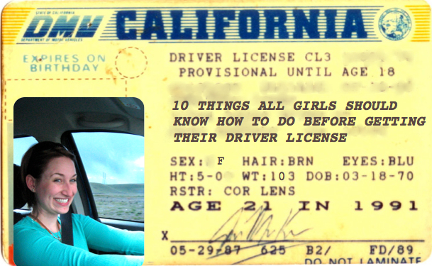 10 Things Every Girl Should Know How to do Before Getting Their Driver License