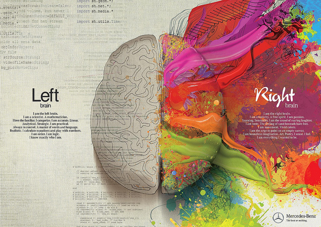 Right Brain vs. Left Brain photo by: http://www.flickr.com/photos/topgold/