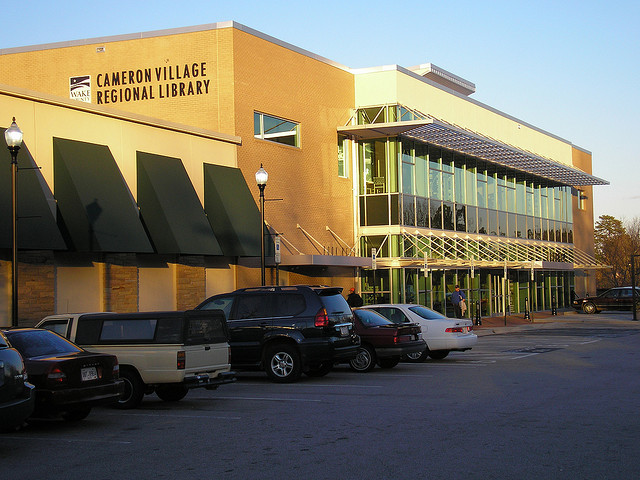 Cameron Village Library - image by http://www.flickr.com/photos/orionpozo/